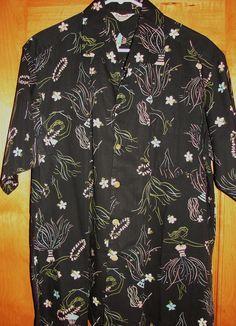 Vintage 1950s Hula Girls Hawaiian Aloha Shirt by Kamehameha