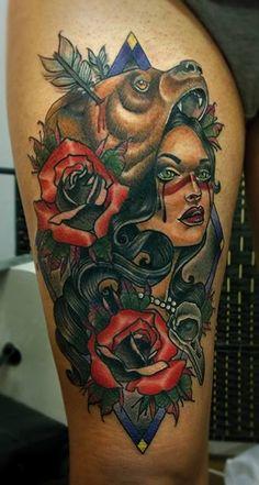 Redberry Tattoo Studio Wrocław #tattoo #inked #ink #studio #wroclaw #warszawa #tatuaz #dresden #redberry #katowice #redberrytattoostudio #amaizingtattoo #poland #berlin #eztattoo #nastiazlotin #zlotin #sketch #woman #bear #rose #niedzwiedz #nature