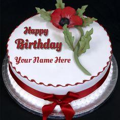 Write Name On Beautiful Love Birthday Cake Online Free