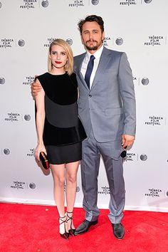 Emma Roberts, in Balenciaga, and James Franco, in Gucci, at the Palo Alto premiere.