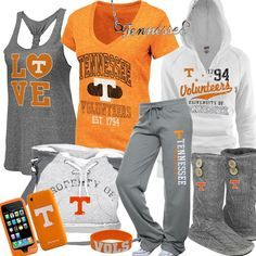 Women's University Of Tennessee Fan Gear One day I will be wearing orange and white Tennessee Vols Shirts, Tn Vols, Tennessee Girls, East Tennessee, Tennessee Volunteers Football, Tennessee Football, Tennessee Titans, College Football Teams, Football Fans