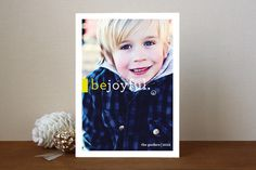 Be Joyful Holiday Photo Cards by Snow and Ivy at minted.com