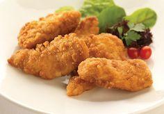 Piept de pui pane marinat în iaurt Chicken Recipes Video, Fried Chicken Recipes, Chicken Meals, Lunch Recipes, Dinner Recipes, Cooking Recipes, Dinner Ideas, Meal Ideas, Chicken Goujons