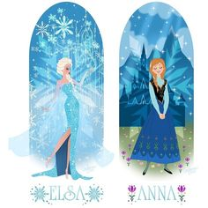 Frozen Princesses Elsa and Anna Get Artistic Makeovers ❤ liked on Polyvore featuring disney and frozen