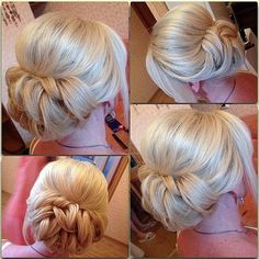 Wedding style, low pin curled updo from eksnagustenko. source