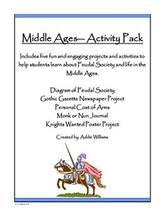 Package of assignments / projects related to the Middle Ages.