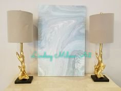 Lindsey Milam Art, abstract art, coastal, turquoise, gold, white, blue, acrylic art