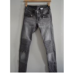 """Biker Jeans Only worn once! In excellent condition! A little tight for me. Size: 26"""" converted into size: 4. Style: Skinny low waist ankle. &Denim. Biker jeans washed in stretch denim. Decorative pockets concealed zip at front and on the ankle. 91% Cotton 8% Polyester 1% Elastane. Do not dry because it will shrink. Air dry only. No trades No Paypal Yes, bundles✔ *******FINAL PRICE********* Follow me on Instagram: ashleyjcloset  H&M Other"""