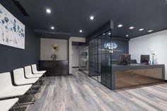 Potomac Falls Orthodontics Reception Area Design – Home Office Design Vintage Clinic Interior Design, Interior Design Portfolios, Clinic Design, Healthcare Design, Interior Work, Salon Design, Modern Interior, Design Design, House Design