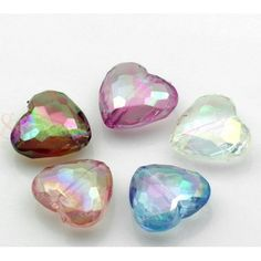 Wholesale Mixed AB Color Love Heart Faceted Acrylic Spacer Beads from China Supplier Acrylic Beads, Love Heart, Abs, Color, China, Garden, Products, Crunches, Garten