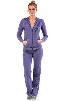 Women's Athletic Clothing Sets - Vertigo Paris Womens Embroidered Tracksuit Jog Set >>> Read more at the image link. (This is an Amazon affiliate link)