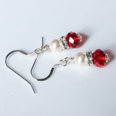 Red earrings for a red bride