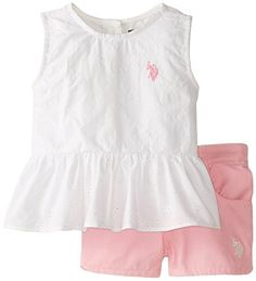 U.S. POLO ASSN. Little Girls' Eyelet Peplum Top and Twill Shorts, White, 2T U.S. Polo Assn. http://www.amazon.com/dp/B00QKHXKHM/ref=cm_sw_r_pi_dp_Xudwvb1ZJRS9P