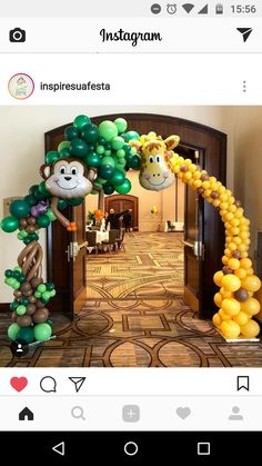 New baby shower ideas safari decoration animal party ideas Safari Theme Birthday, Jungle Theme Parties, Wild One Birthday Party, Baby Party, Baby Birthday, Animal Birthday, Birthday Parties, Decoration Evenementielle, Safari Decorations
