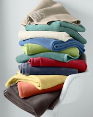 Cotton Fleece Blanket and Throw from Germany D $148 (78 x 85)