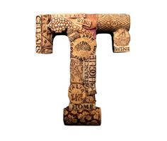 Customized Handmade Vintage Wine Cork Letter - Small Size - We Have EVERY Letter