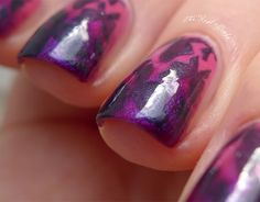 Pink and Purple Gradient with Butterflies  I love gradients, and even more so gradients with stamping or freehand nail art on top. So here you go :) There is a small mini-tutorial at the end.