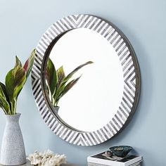 Shop bone inlay mirror from west elm. Find a wide selection of furniture and decor options that will suit your tastes, including a variety of bone inlay mirror. Entryway Mirror, Mirror Wall Art, Round Wall Mirror, Round Mirrors, Hanging Mirrors, Frame Mirrors, Floor Mirrors, Glam Mirror, Mirrors