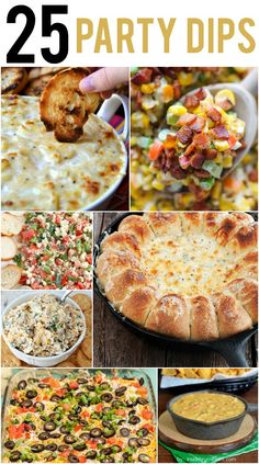 25 Dip Recipes #diprecipes #partydips #dips