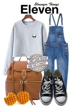 Stranger Things by sparkle1277 on Polyvore featuring polyvore, fashion, style, Superdry, Converse, Salvatore Ferragamo and clothing