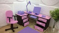 Como Fazer Mesa para Escritório da Barbie e bonecas similares