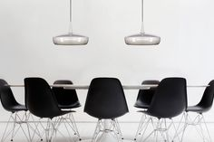 """""""Our Clava Dine lampshade has been shaped by the stroke of an artist's brush, with the vertical holes lighting up the surrounding areas with dancing dots,"""" says Søren Ravn Christensen, founder and Chief Creative Developer of VITA copenhagen."""