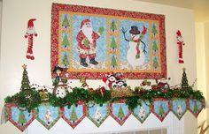 Apple Avenue Quilts: SewCalGal's 2011 Christmas Quilt Show Christmas Mantel Scarf, Christmas Wall Hangings, Christmas Cover, Christmas Mantels, Christmas Sewing, Christmas Projects, Christmas Stockings, Christmas Decorations, Christmas Quilting