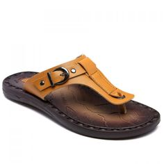 Concise PU Leather and Buckle Design Men's Slippers men shoes fashion style is part of Wedding nails Rose Art Ideas - Wedding nails Rose Art Ideas Boys Dress Shoes, Boat Shoes, Shoes Sandals, Leather Loafers, Leather Sandals, Leather Men, Winter Outfits Men, Winter Clothes, Mens Fashion Shoes