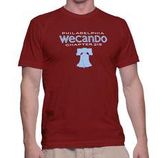 WeCanDo Men's Philadelphia Chapter Tee, 100% Cotton, Benefits Boys and Girls Club Philadelphia