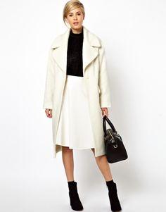 Image 1 ofASOS Vintage Style Cocoon Coat