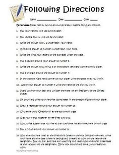 April Fools Day Reading Directions Activity: Prank Your Students! Do you want to get your students on April Fool's Day? Well, this reading directi. Pranks For Teachers, Pranks For Kids, April Fool Quotes, Customer Quotes, Funny April Fools Pranks, Test Taking Strategies, Following Directions, Directions Test, Online Tutoring