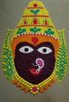 Rangoli Easy Rangoli Designs Videos, Indian Rangoli Designs, Simple Rangoli Designs Images, Rangoli Designs Flower, Rangoli Patterns, Colorful Rangoli Designs, Rangoli Ideas, Flower Rangoli, Beautiful Rangoli Designs