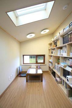 2층 서재: 주택설계전문 디자인그룹 홈스타일토토의  서재 / 사무실