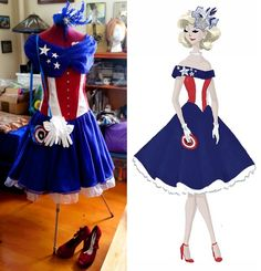 Captain America Dress. @Sara Foster I found your cosplay costume!