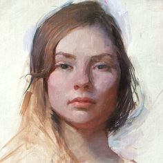 A small portrait demo. Oil on linen. Jeremy Lipking