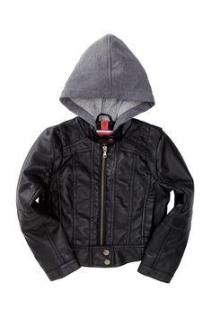 Hooded Zip Front Jacket (Little Girls)  #Jacket # #