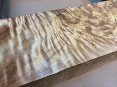 Curly Maple Block of wood Insane figure One of a by TheLumberHack, $130.00