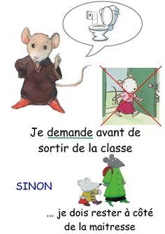 Règles de vie chez les souris Petite Section, Classroom Management, Preschool Activities, Family Guy, Teddy Bear, Education, Blog, Fictional Characters, Discipline