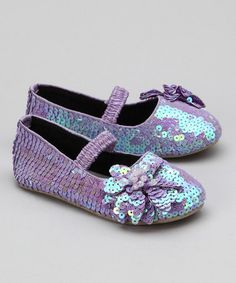Take a look at this Fairy Dreams Lavender Pinky Bloom Flat by Sparkling Shoes Collection on #zulily today!