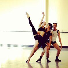 Abigail Boyle, Qi Huan, Brendan Bradshaw (Royal New Zealand Ballet). Photo by Tonia Looker.