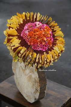 "I'm teacher and designer of flower school ""La Floriselle"". And this is my work for you."