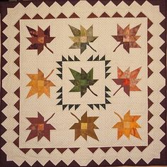 Quilt Inspiration: September 2011- free block pattern for the leaf