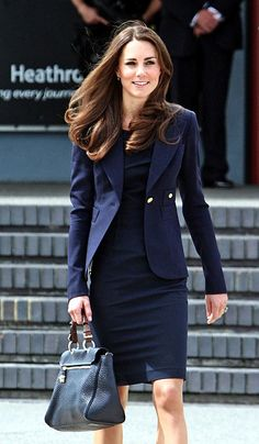 I would love to channel Kate Middleton at work.