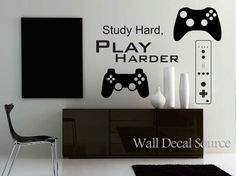 Game Controllers Wall Decal Gamer Wall Decal by WallDecalSource