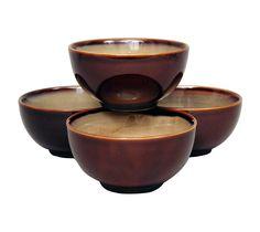 Nova Set of 4 Bowls - Brown