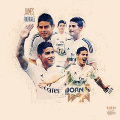 James Rodriguez, Real Madrid, football, sport, illustration, poster, design, sports media, soccer, graphic, social, art, AREDI, #sportaredi