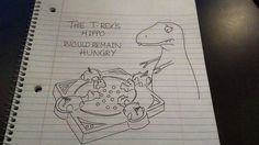 """T rex jokes never get old...I guess they dont """"reach"""" their limit"""