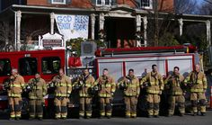 These Firefighters' Honor Guard For Boy  Daniel Barden, a 7-year-old student killed in the shootings at Sandy Hook Elementary School, had aspired to become a firefighter like his uncles. In a tribute to that dream, firefighters -- some who travelled from out of state -- assembled a guard of honor at his funeral. (AP Photo/Julio Cortez)