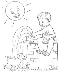 Free printable camping coloring pages | Kid\'s Summer Coloring Fun ...