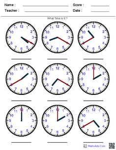 Looking for a Worksheets Telling Time. We have Worksheets Telling Time and the other about Benderos Printable Math it free. Clock Worksheets, Printable Math Worksheets, Worksheets For Kids, Grade 3 Math Worksheets, Worksheets For Kindergarten, Teaching Clock, Teaching Time, Teaching Math, Learn To Tell Time